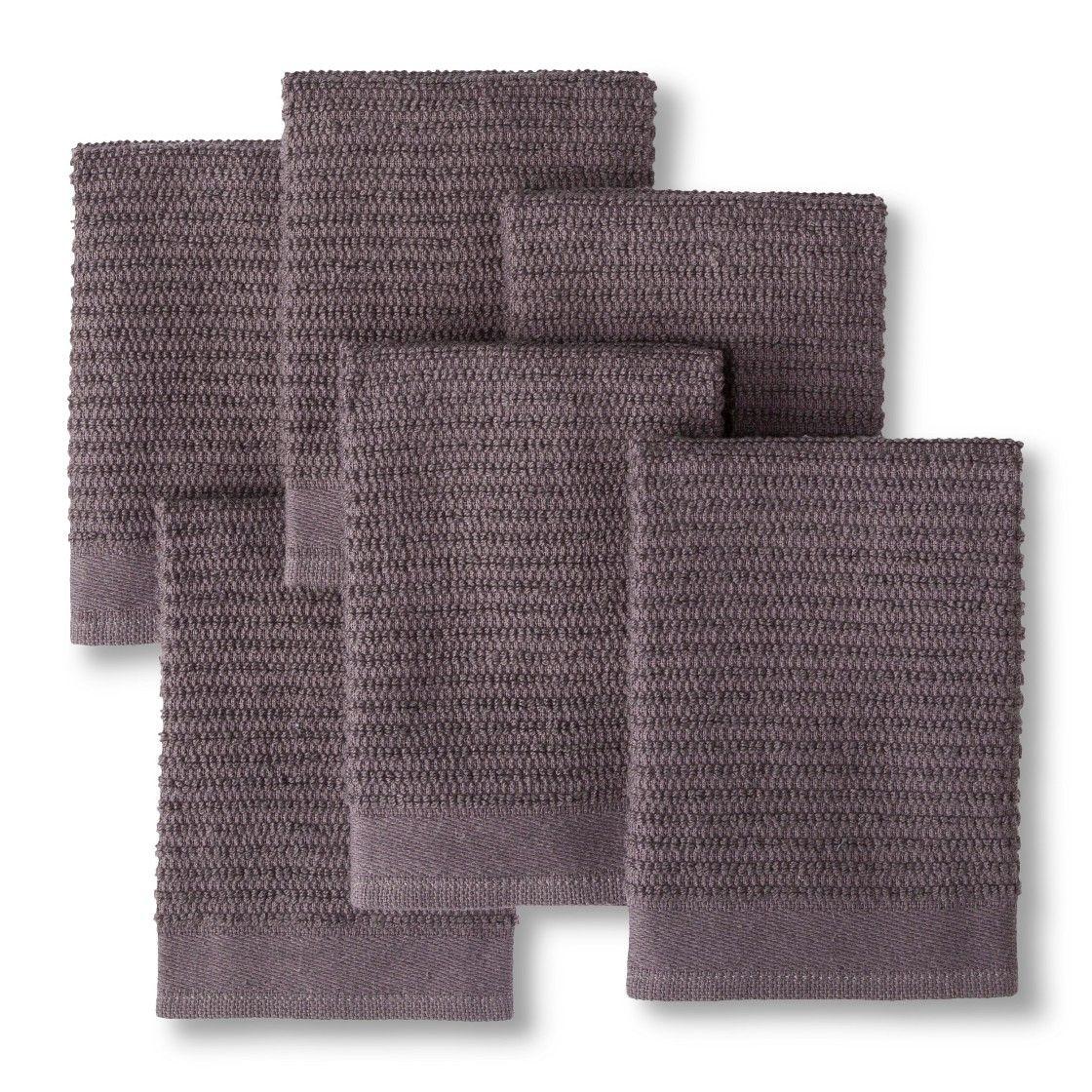 Earth Gray Dish Towel (6 Pk) Room Essentials™ Room