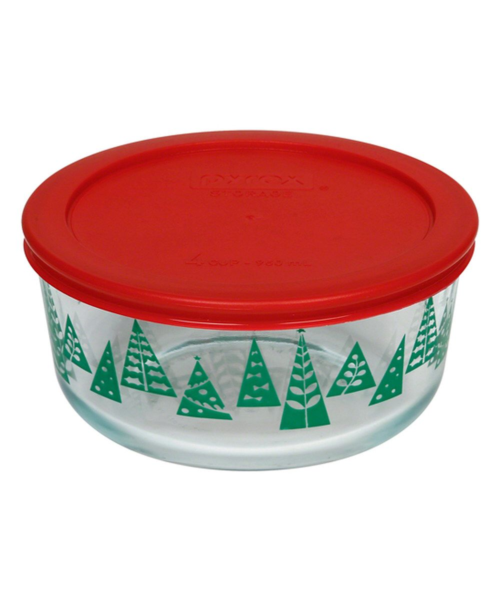 Look at this Red Christmas Trees 4-Cup Food Storage Container on #zulily today  sc 1 st  Pinterest : christmas food storage containers  - Aquiesqueretaro.Com