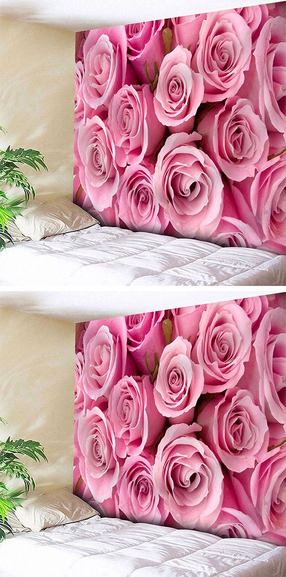 Wall Hanging Valentine\'s Day Rose Flowers Print Tapestry | Wall ...