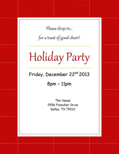 Holiday Party Invitation - Free Invitation Template by Hloom - holiday party invitations free