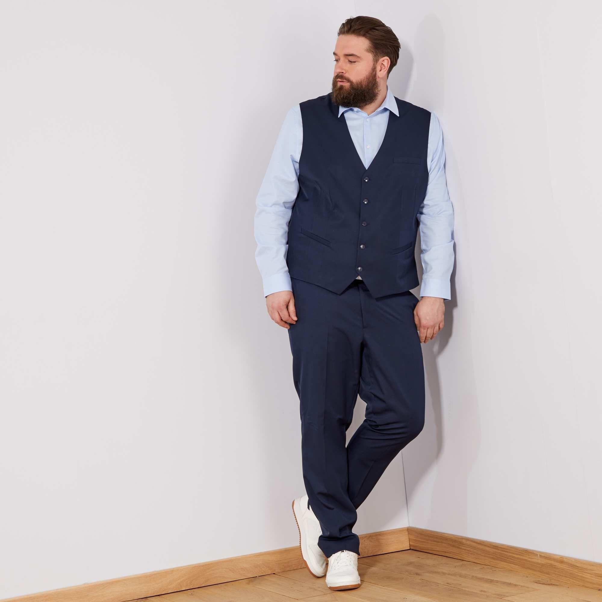 Abiti Eleganti Uomo Scontati.Pantaloni Abito Regular Tinta Unita Pantaloni Blu Marino Abiti