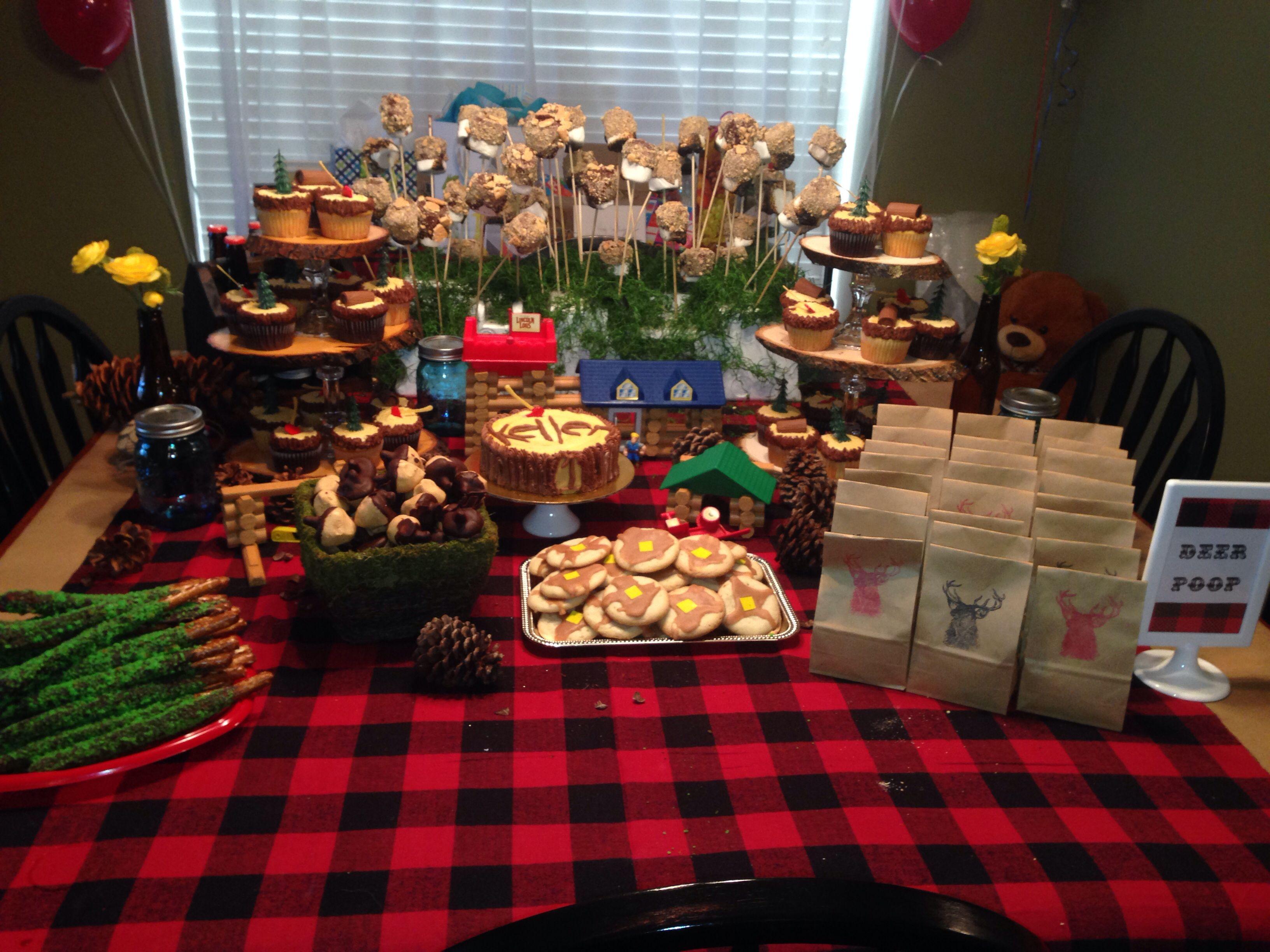 Lumberjack Party Sweets Table Birthday Menu