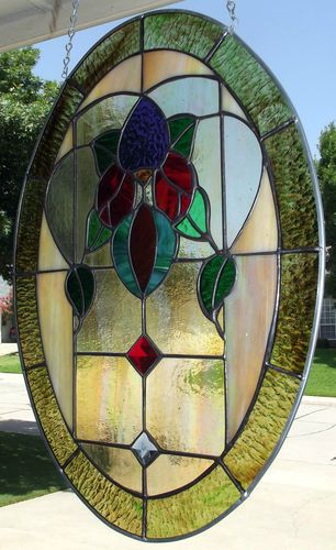 Oval Victorian with Jewels and Iridescent Glass
