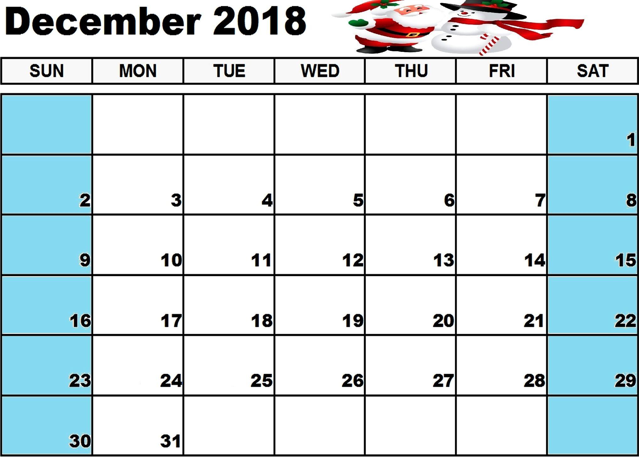 Free December 2019 Printable Calendar In Pdf Word Excel Templates