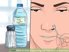 Image titled Heal a Nose Ring and Take Care of Infections Step 4   -  #NosePiercingIndian #NosePiercingInfection #NosePiercingKeloid #doublenosepiercing
