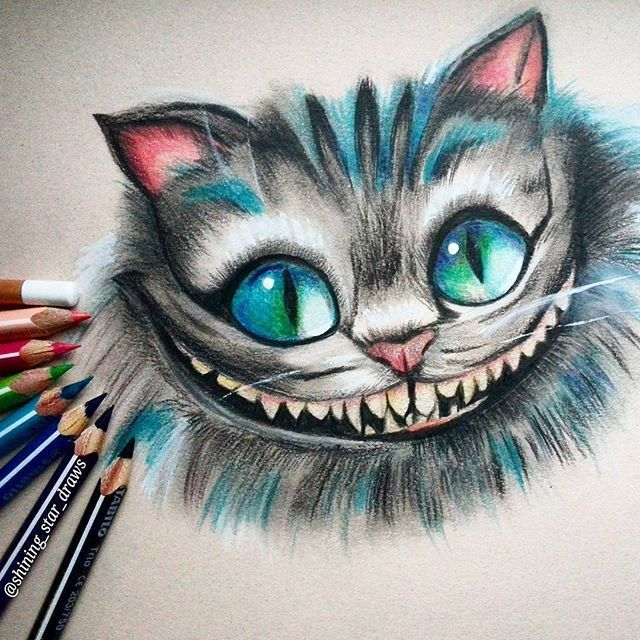 The Cheshire Cat #AliceInWonderland #Art #drawing #pencil #sketch ...