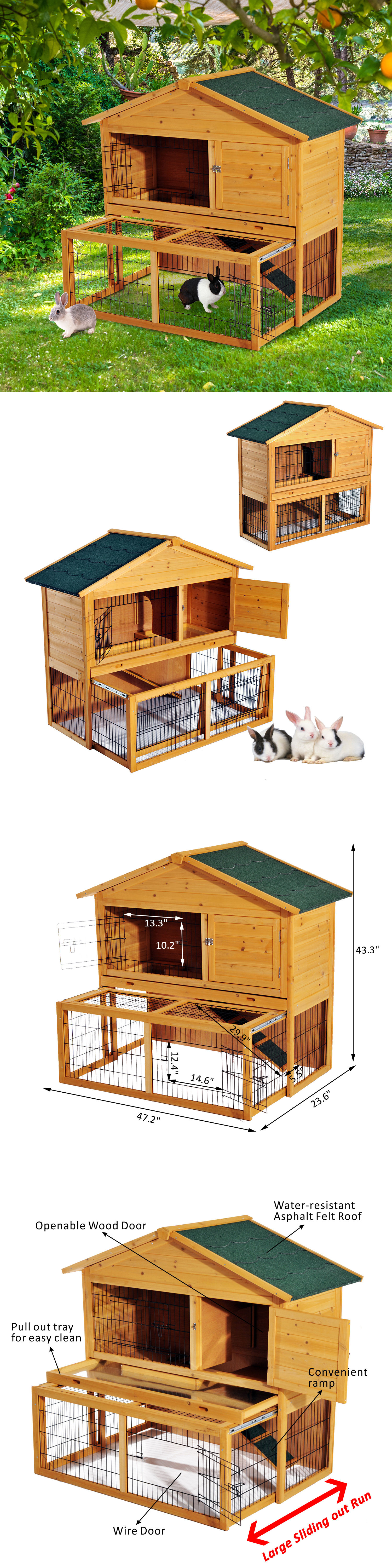 supplies wood poultry pets rabbit savoy imperial solid hen pet pin deluxe mini house coop chicken hutch large