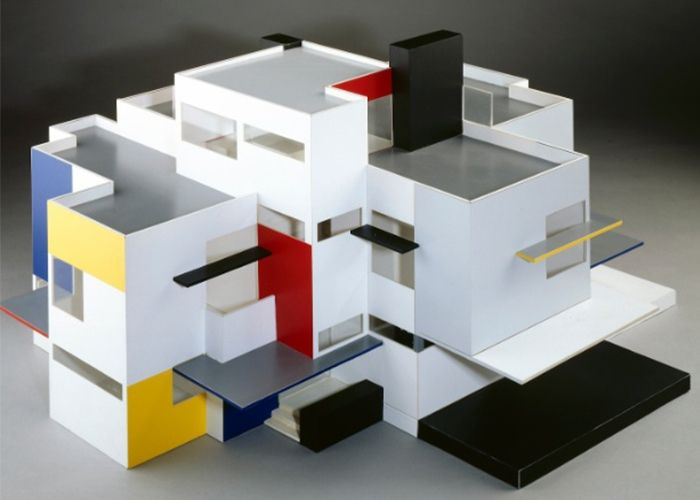 Theo van doesburg maquete casa particular 1923 architecture pinterest de stijl exposi o - Stijl des maisons ...