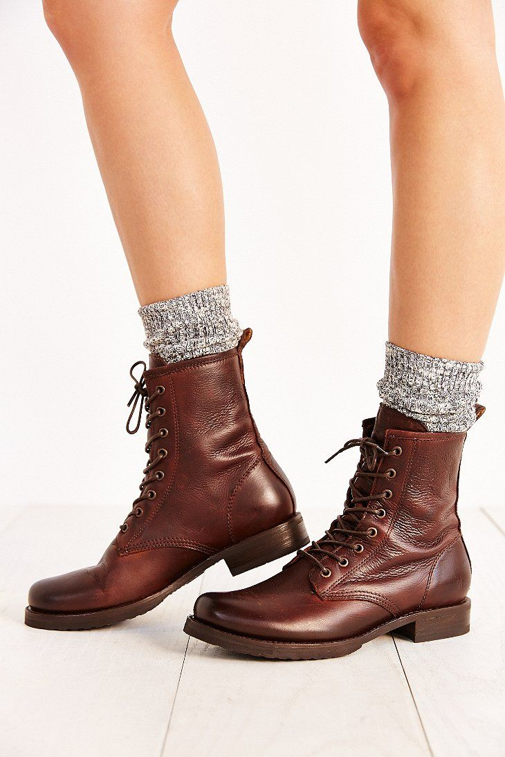 Frye Veronica Combat Boot Urban Outfitters | Boots, Shoe