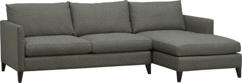Axis II Leather 2-Piece Sectional Sofa. Klyne II 2-Piece Sectional Sofa | Crate and Barrel  sc 1 st  Pinterest : crate and barrel klyne sectional - Sectionals, Sofas & Couches