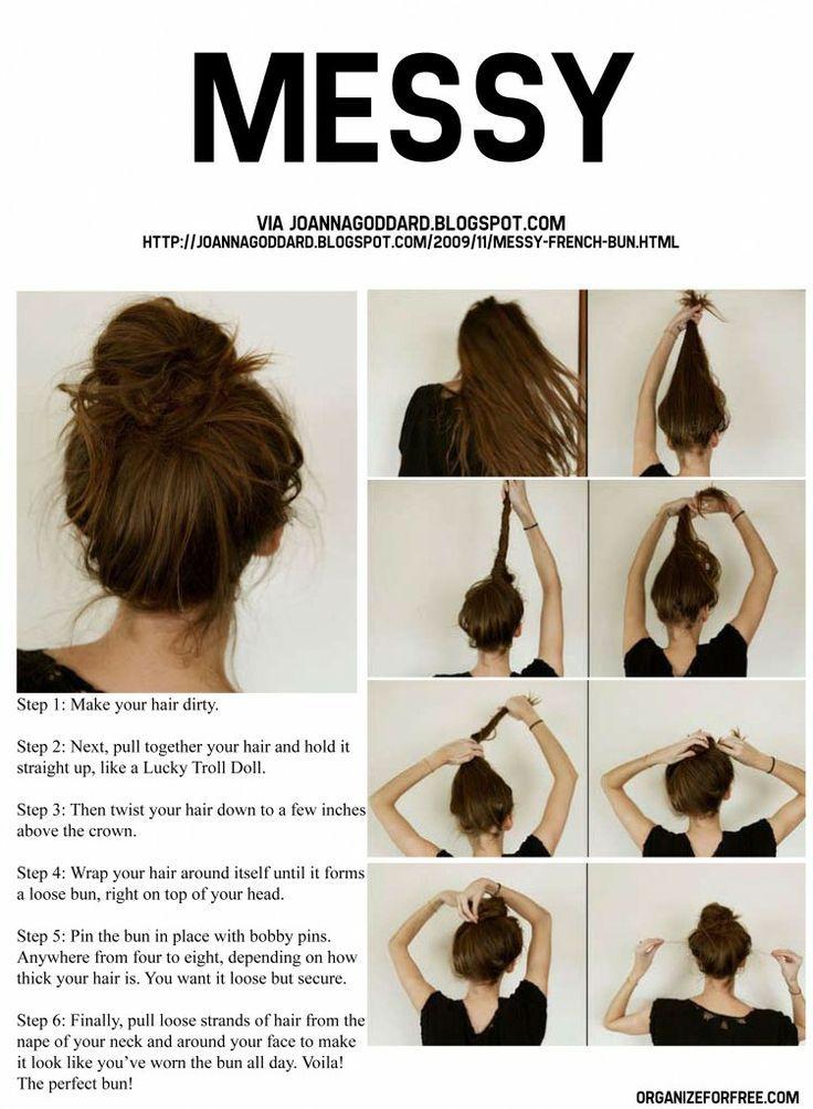 Messy Bun Tutorial Hair Styles Easy Hairstyles For Long Hair Hair Beauty