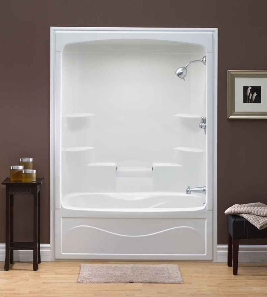 Liberty 60 Inch 1 Piece Acrylic Tub And Shower Right Hand With