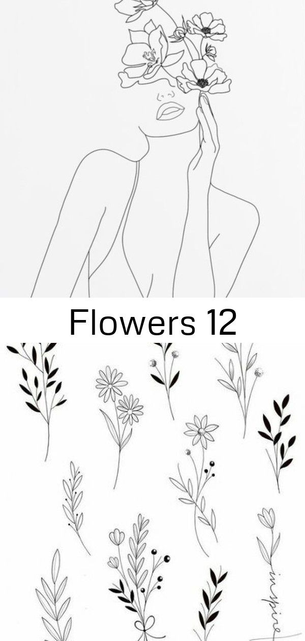 Flowers 12 Flowers Flowers Drawing Design Doodles Tattoos 38 Ideas For 2019 Flash sheet tattoo traditional spooky line work for work art drawing