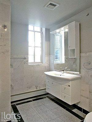 12x12 Marble Tile With Chair Rail Boarder On Walls In Bathroom Boston Loft Lofts For Rent Luxury Loft