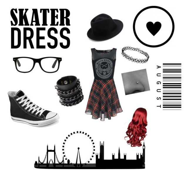 """""""Skater Dress"""" by athena-carrillo on Polyvore featuring Converse, Eugenia Kim and Mia Bag"""