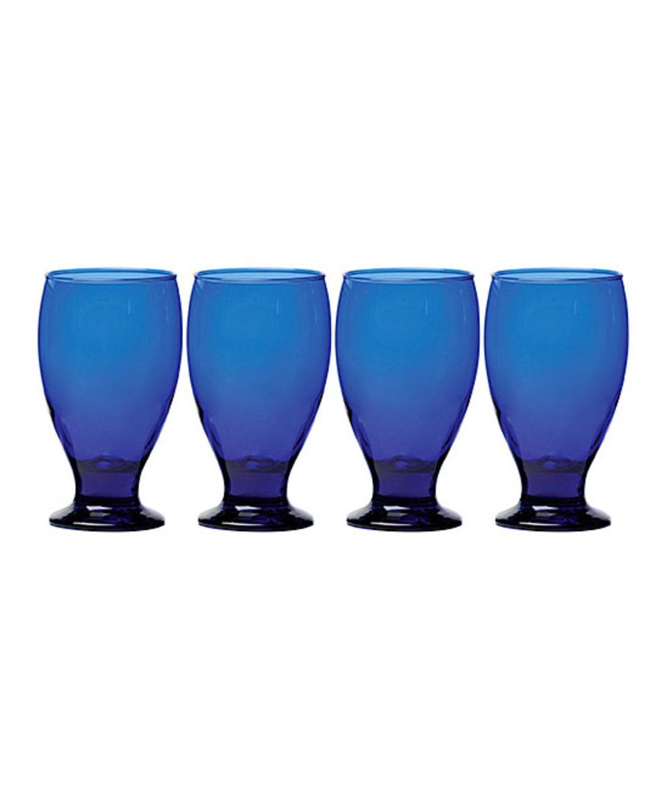 Take a look at this Cobalt Uptown Goblet - Set of Four today!