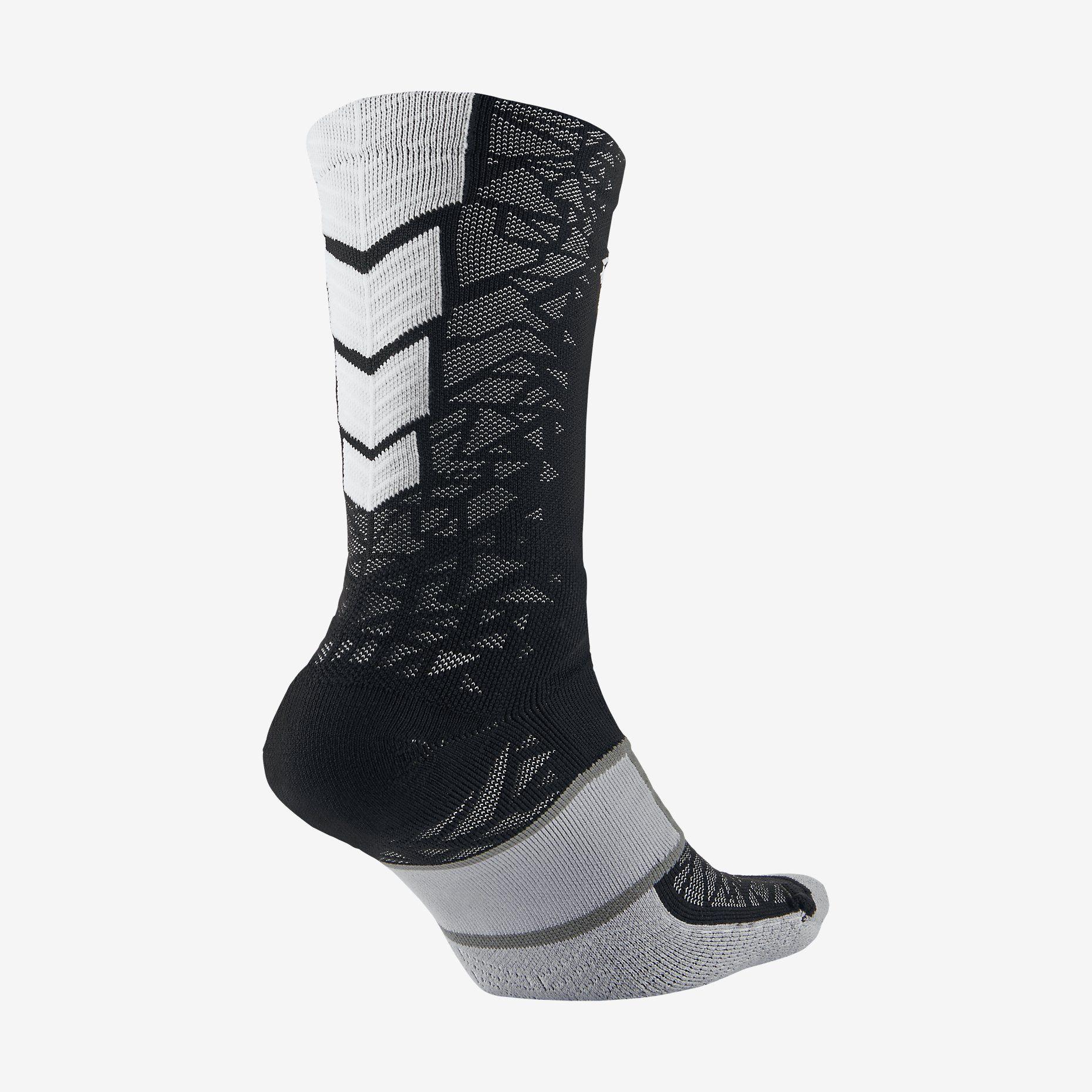 Nike Match Fit Elite Hypervenom Crew Black/White Soccer Socks