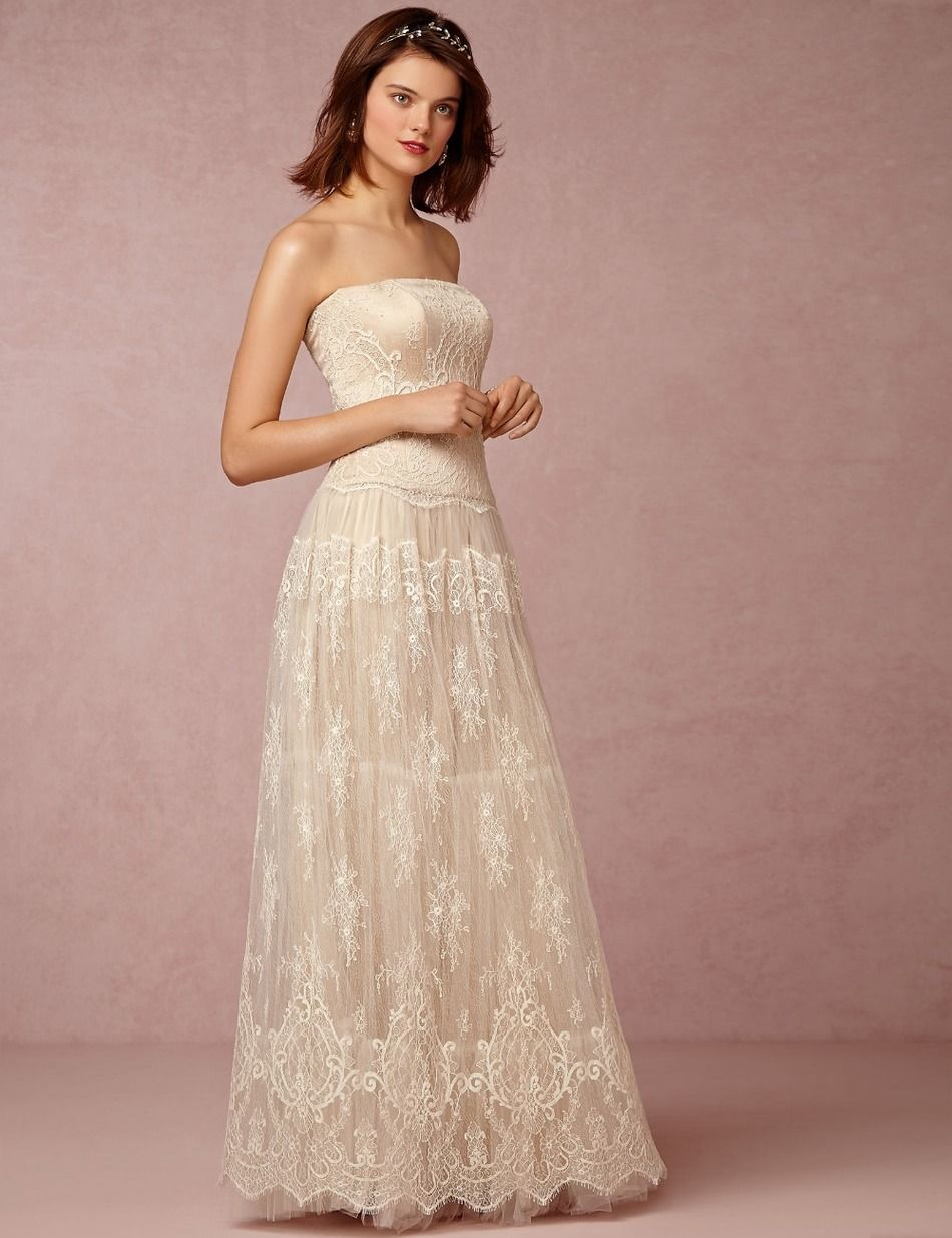 BacklakeGirls Real Sexy Simple Lace Wedding Dresses Open Back Tulle ...