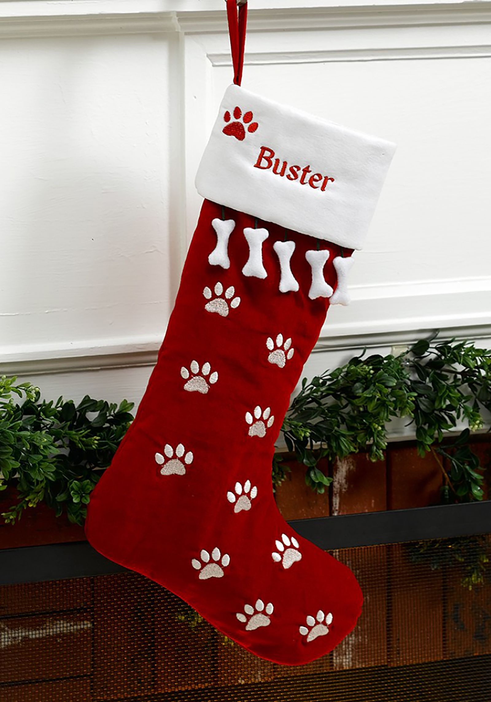 Personalized Pet Dog Christmas Stocking Countryliving