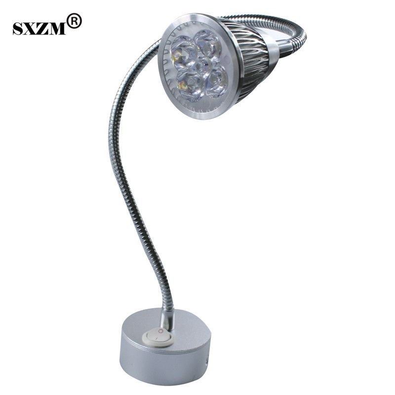 Sxzm 5w Led Spot Lamp Bedside Lamp Reading Wall Lamp Ac85 265v Mirror Light With On Off Switch 360 Degree Rotation Flexible Arm Lamp Led Spot Bedside Lamp
