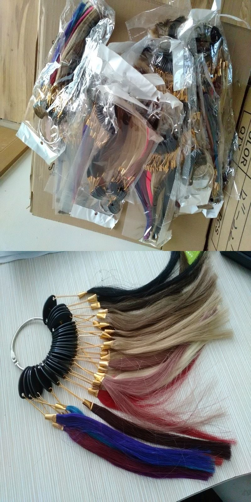 Handmade Wigs Hair Color Ring, Human Hair Color Chart, Color Sample ...