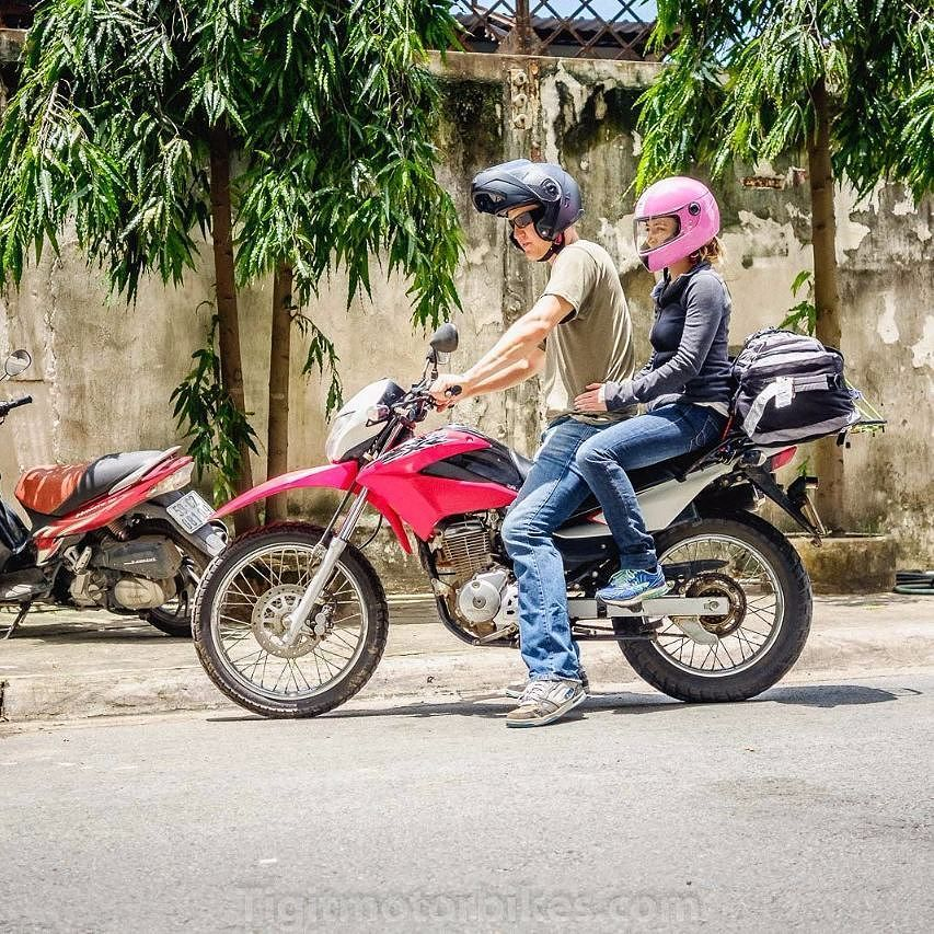 Nice Couple Off To Hanoi On The Honda Xr150 Tigitmotorbikes