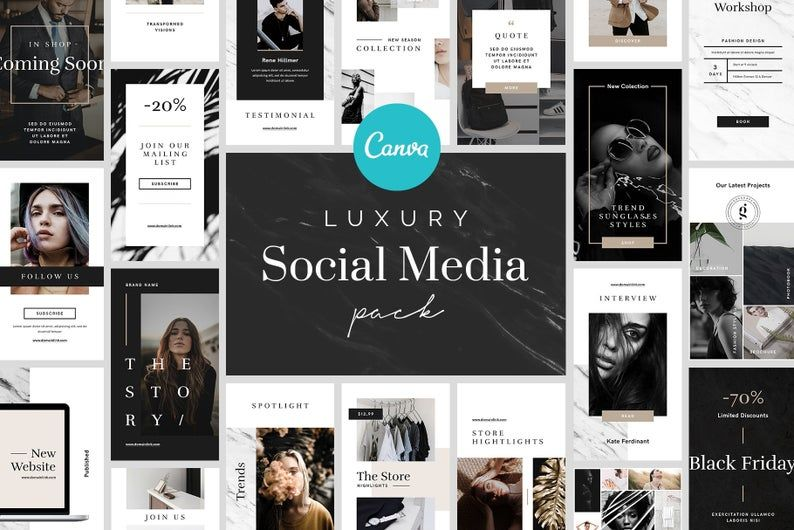 Luxury Instagram Posts And Stories Instagram Feed Layout Instagram Posts Instagram Template Design