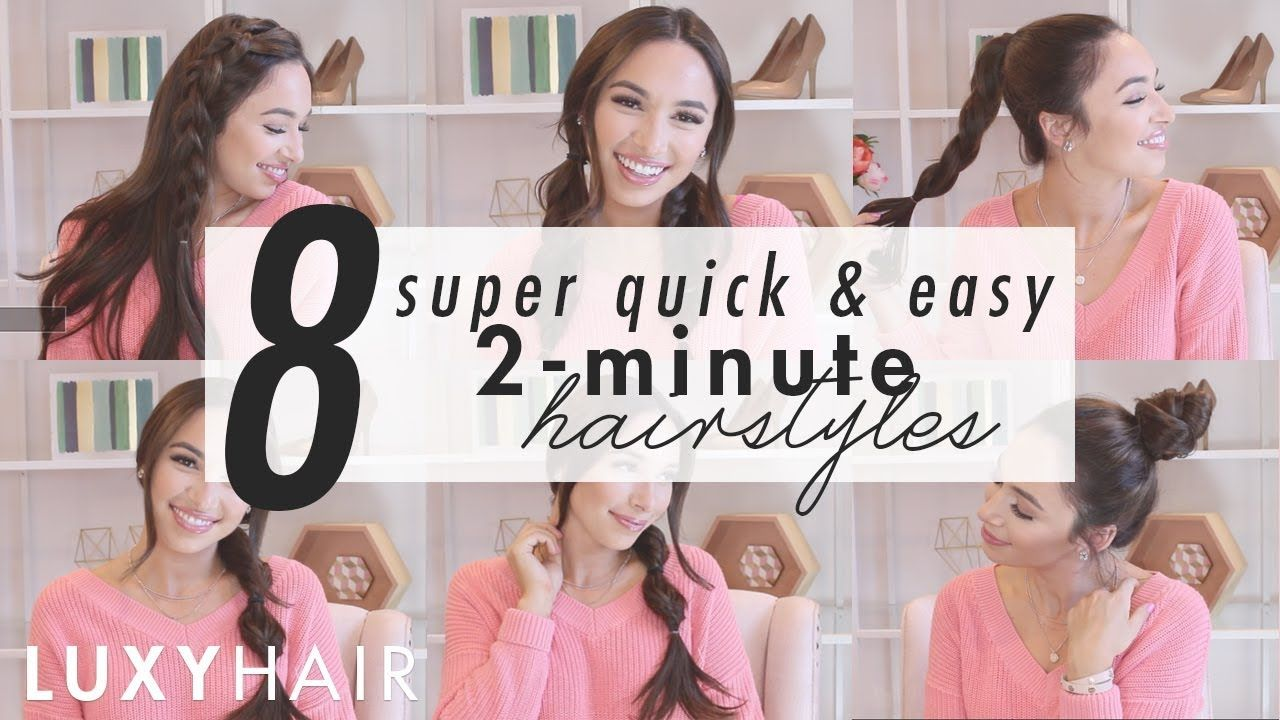 2 Minute Hairstyles 8 Super Quick & Easy Hairstyles  2Minute Looks For Work Or School