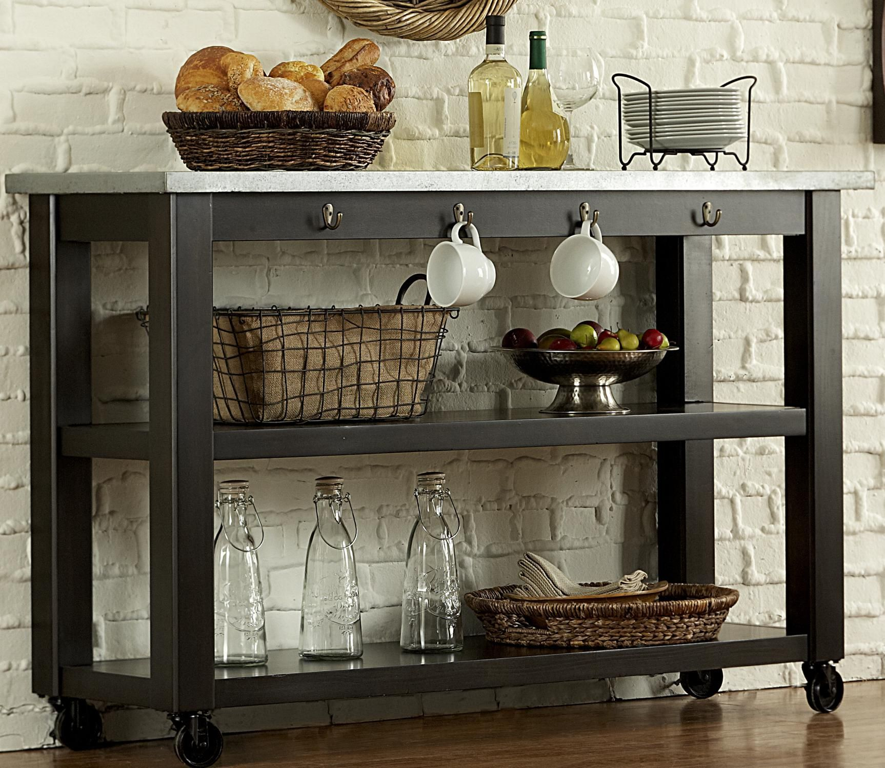 Keaton II Kitchen Serving Table on Casters by Vendor 5349 | Kitchens ...
