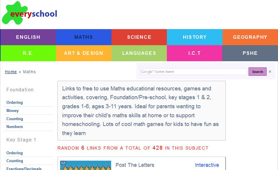 Maths educational resources, games and activities, covering ...