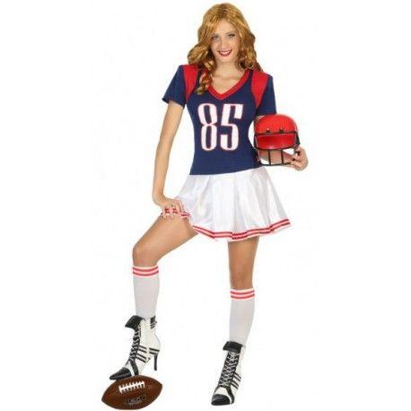 Disfraz De Jugadora De Fútbol Americano Para Mujer Comprar Jugadores De Rugby Trajes De Fútbol Disfraz De Profesiones