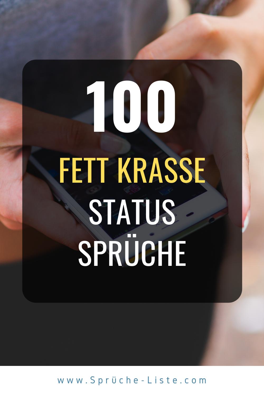 100 Fett krasse Status Sprüche in 2020 | Zitate für