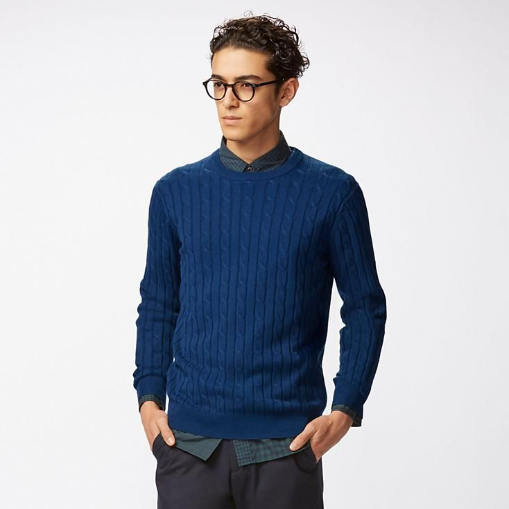 Pull Coton Cachemire Col Rond HOMME