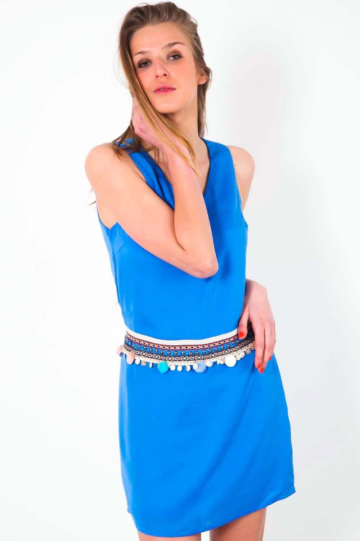 546c45e26192 Robe Color Block Bleu