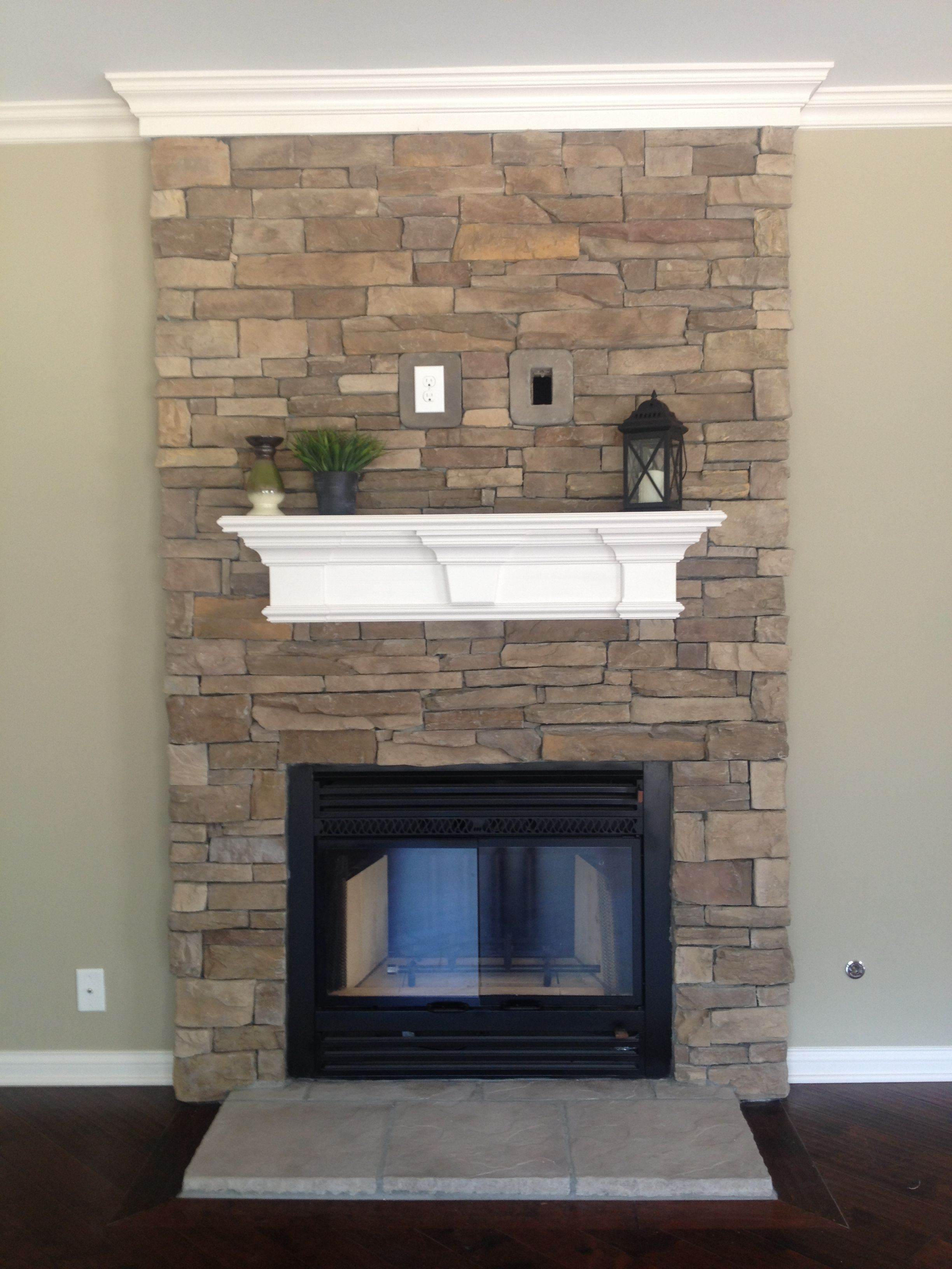 Stone fireplace stone fireplaces pinterest mantles stone