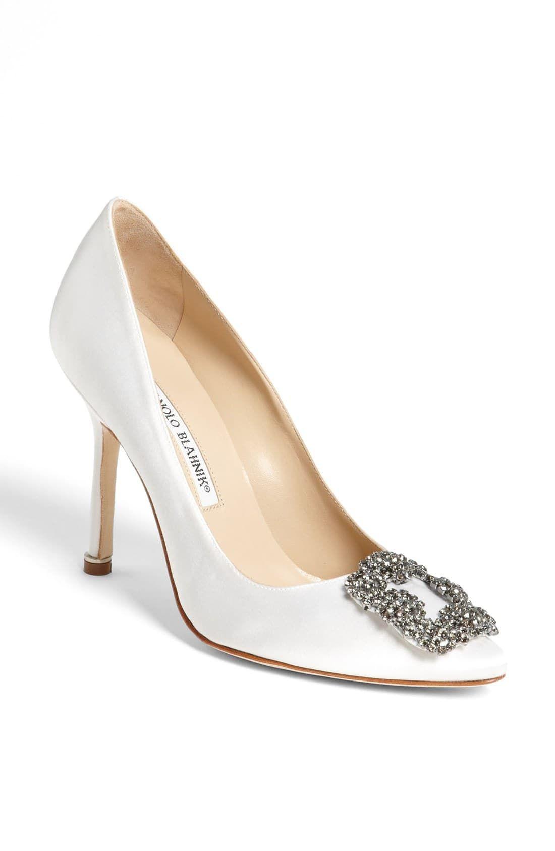 Manolo Blahnik Hangisi Pointed Toe Pump Women Nordstrom Manolo Blahnik Hangisi Manolo Blahnik Wedding Shoes Manolo Blahnik