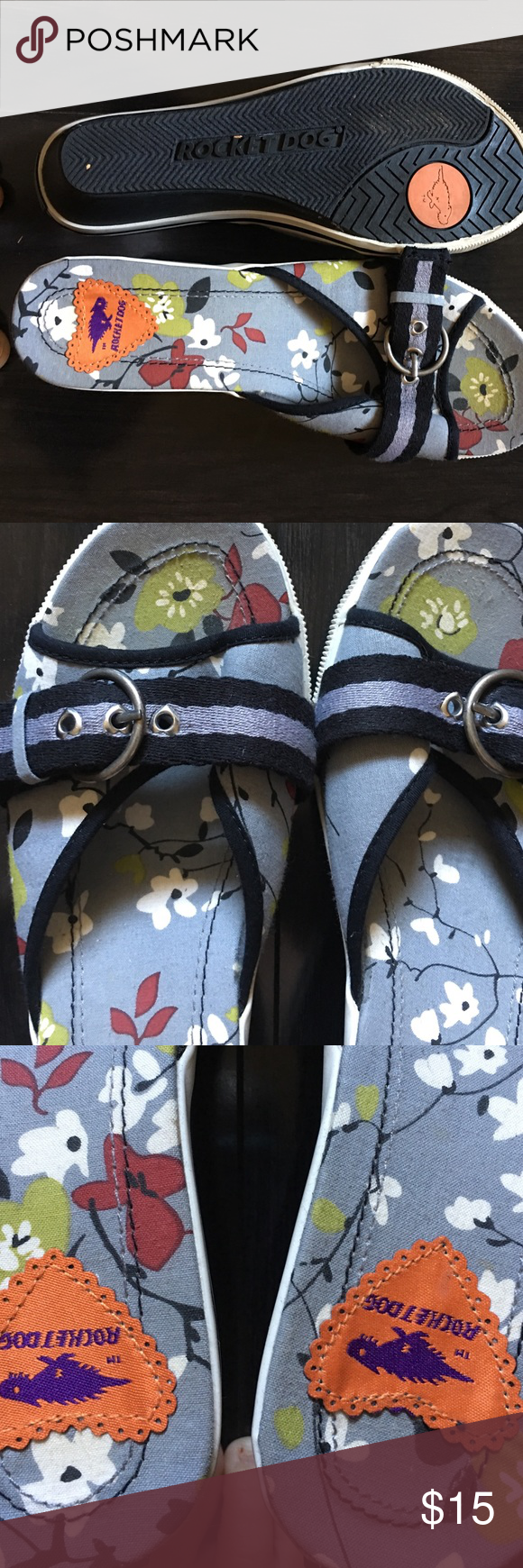 Rocket dog size 8 sandals Super cute, size 8 , rocket dog adjustable sandals. Like new. Rocket Dog Shoes Sandals