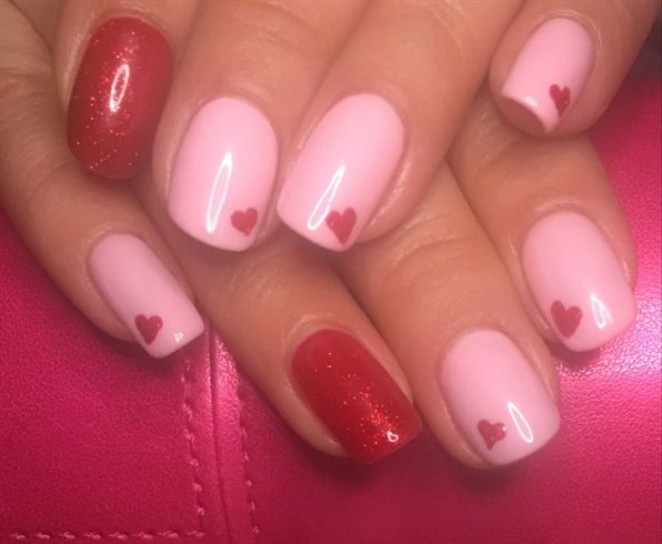 Simple Natural Nail Design With Gel Polish Valentines Day Nail