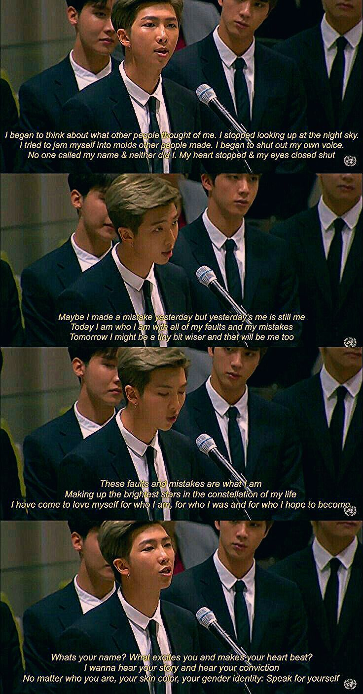 2018 09 24 Bts Speech At The United Nation General Assembly Youth 2030 Genun Assembly General Genun Nation Spe Bts Quotes Bts Qoutes Bts Playlist