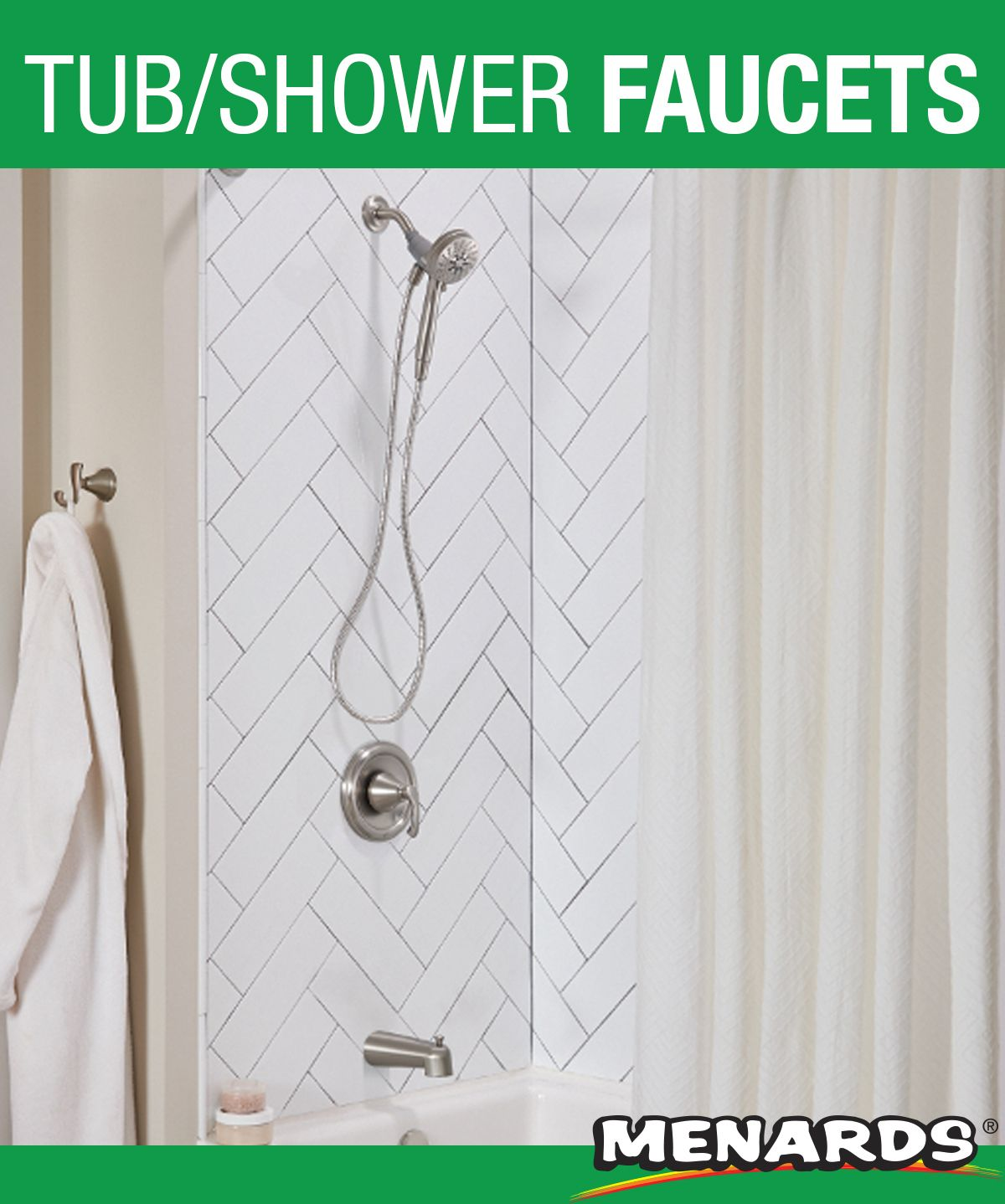 The Moen Tiffin Is The First Tub Shower System To Include The Innovative Magnetix Showerhead With A Powerf Tub And Shower Faucets Shower Tub Shower Faucets
