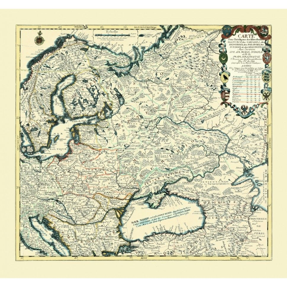 Eastern Europe: Old Map Print | Maps | Pinterest | Antique maps, Map ...