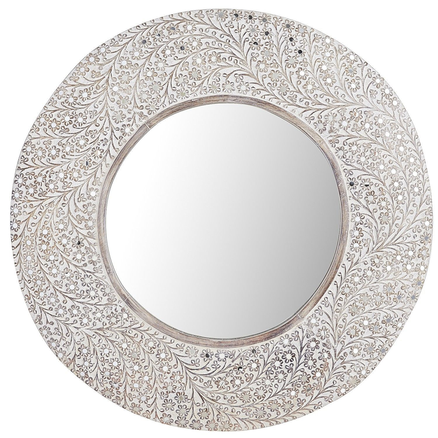 Akil Carved Mirror - Round   Pier 1 Imports   British Colonial ...