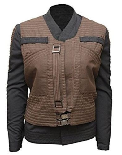 New Jyn Erso Star Wars Rogue One Womens Jacket with Vest #AsfJackets #VestJacket #Casual