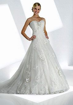 Sweetheart,Cheap Lace Wedding Dresses,Vintage long lace wedding dresses-Httfashion.com