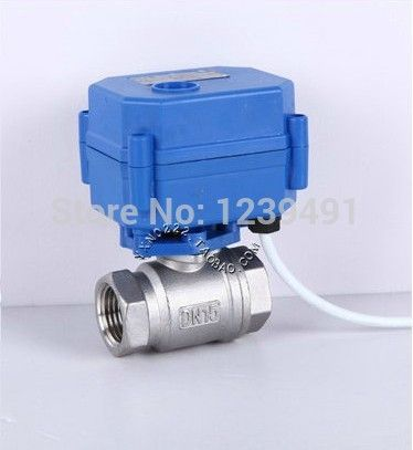 Motorized Ball Valve 1 2 Dn15 Dc12v Cr 01 Cr 02 Cr 05 Wires Stainless Steel 304 Electric Ball Valve Stainless Steel 304 Stainless Steel Steel