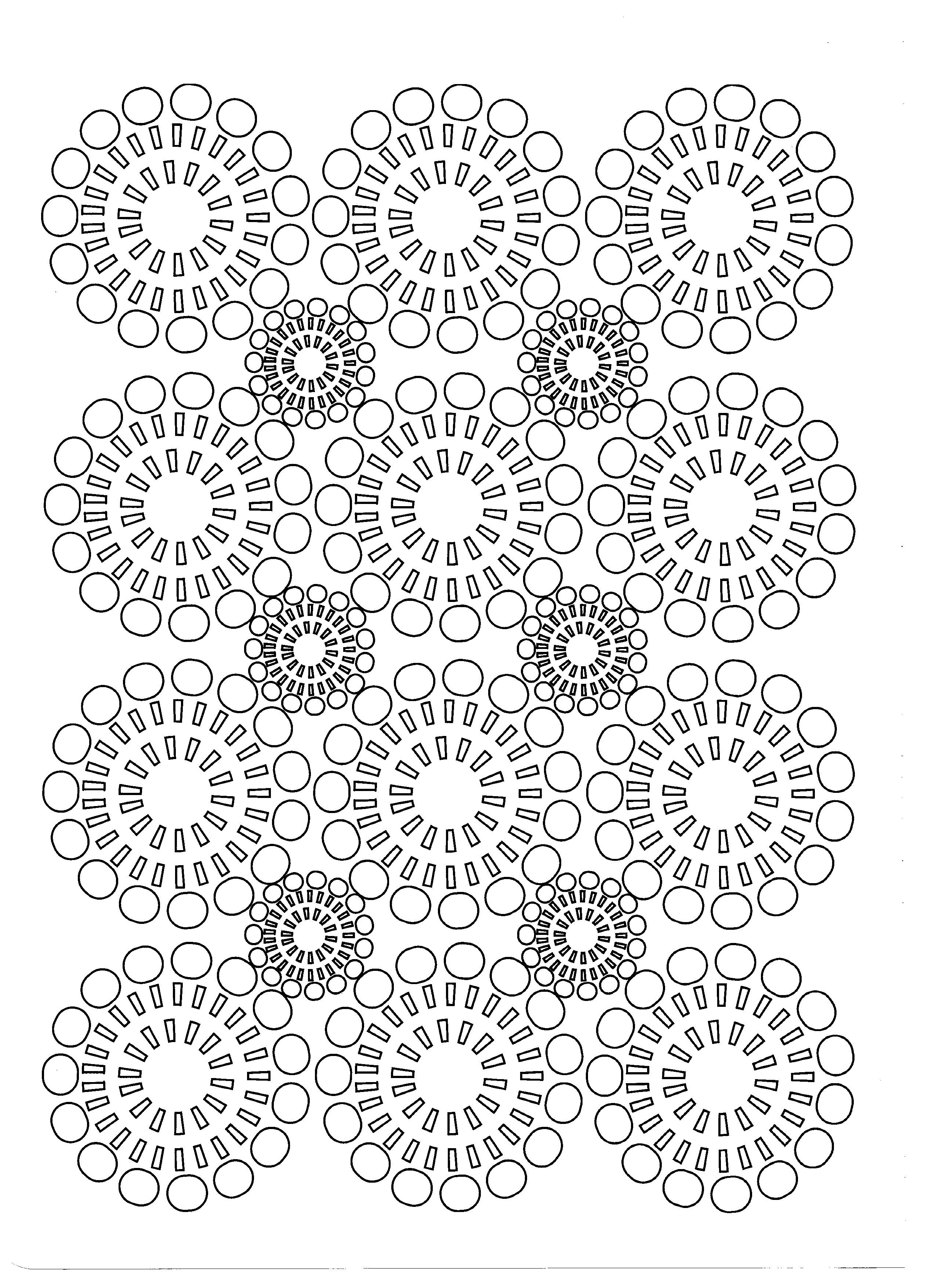 Free coloring page coloring-adult-circles-flowers. | Coloring pages ...