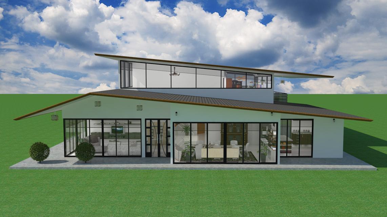 planos de casas modernas futuristas