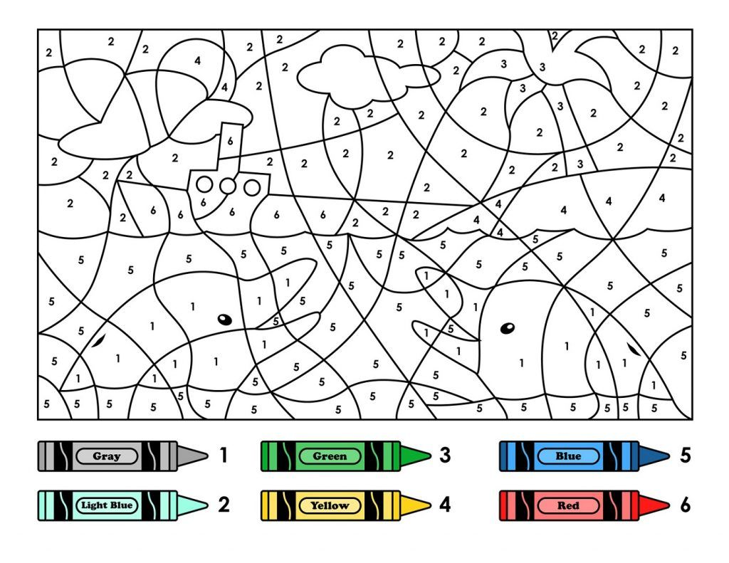 Color By Number Printables Coloringcks Free Coloring
