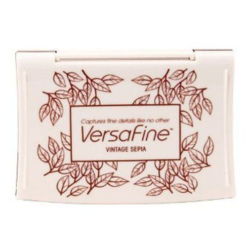 Vintage Sepia Versafine Tsukineko Fine Detail Pigment Ink Pad For Rubber Stamp Fast Drying Personal Impressions