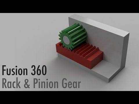 Fusion 360 Rack and Pinion Gear - YouTube | Fusion 360 | Gears